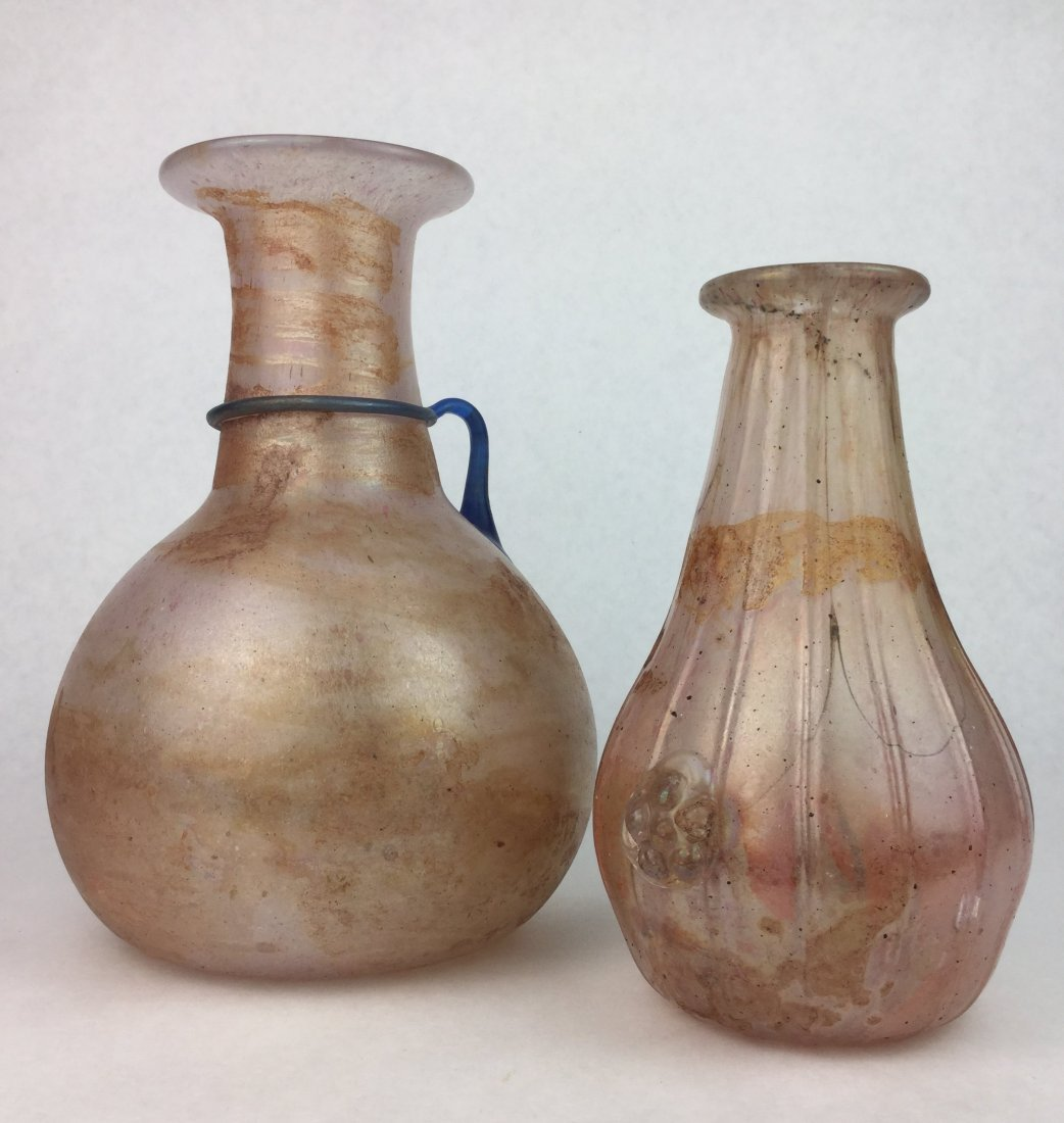 Vintage Hand Blown Art Glass Vases