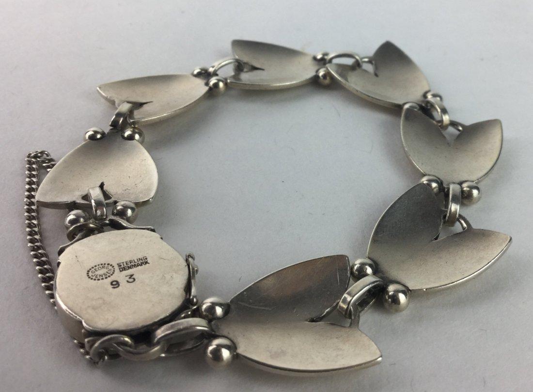 Georg Jensen Sterling Silver Tulip Pattern Bracelet - 2