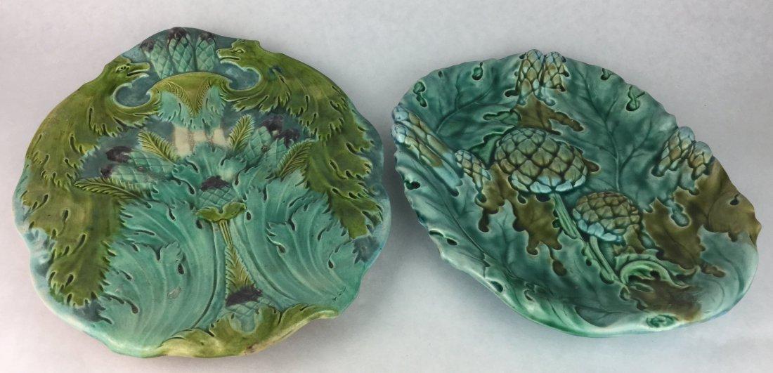 Majolica & Luneville Antique Porcelain Serving Dishes