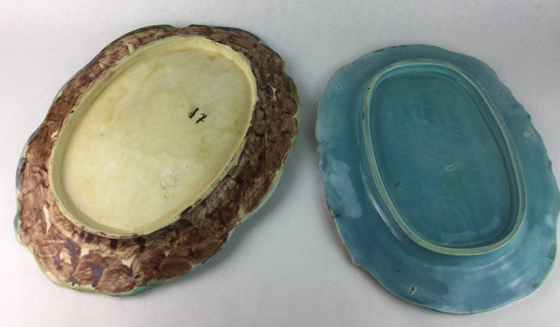 Majolica & Luneville Antique Porcelain Serving Dishes - 2