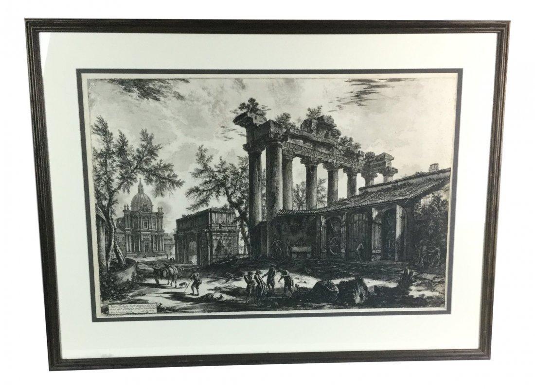 PIRANESI Etching Tempio Detto Della Concordia