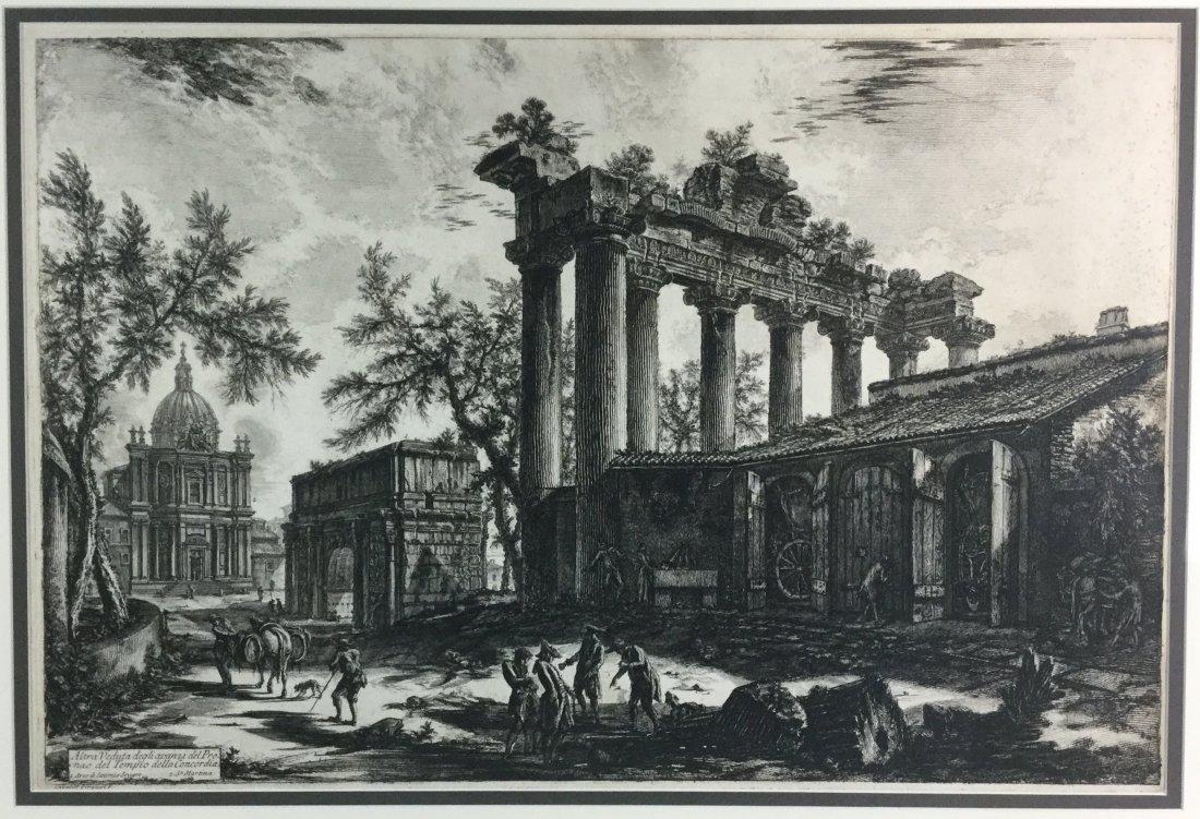 PIRANESI Etching Tempio Detto Della Concordia - 2