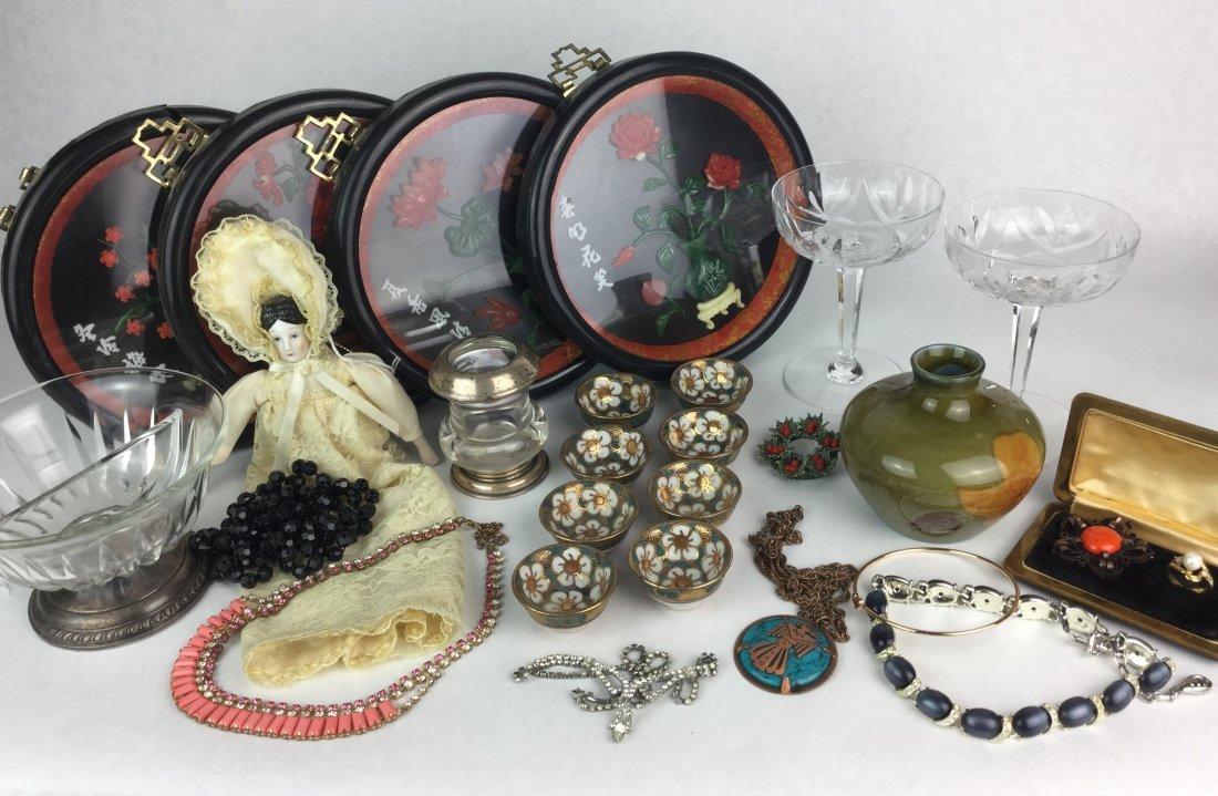 Assorted Vintage Estate Items including Sterling Silver