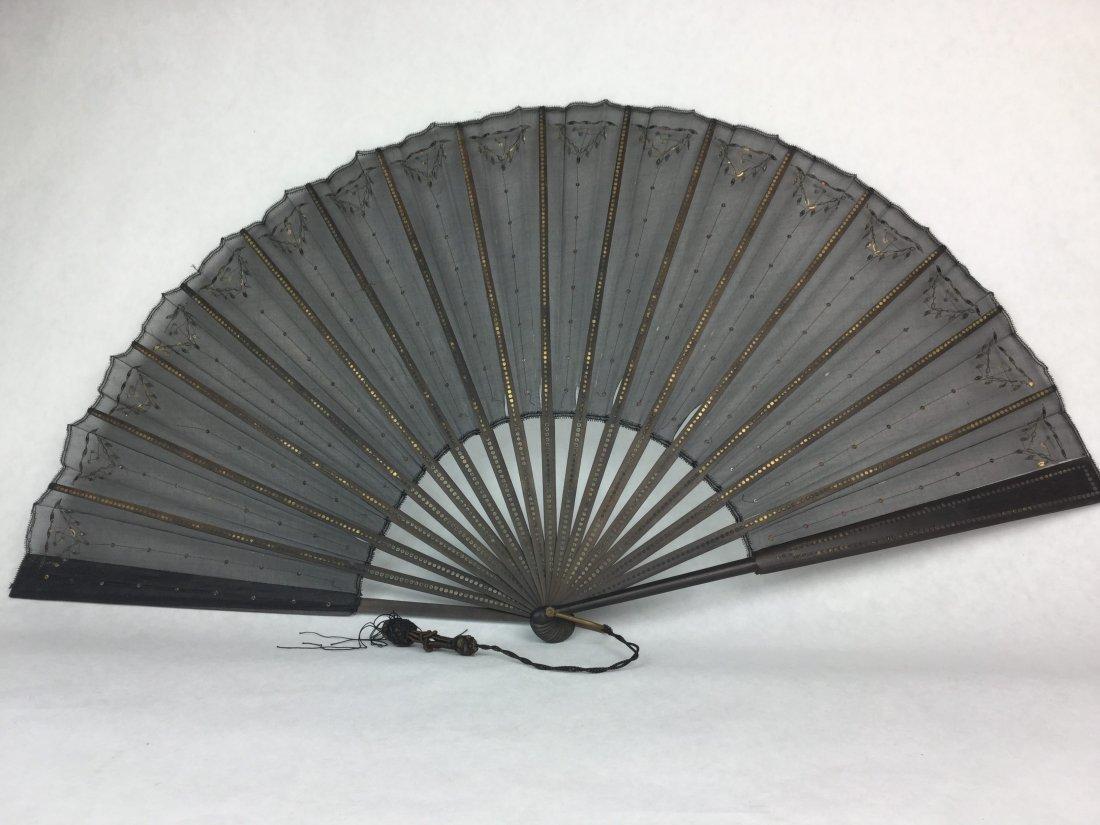 Victorian Gold Gilt Formal Fan