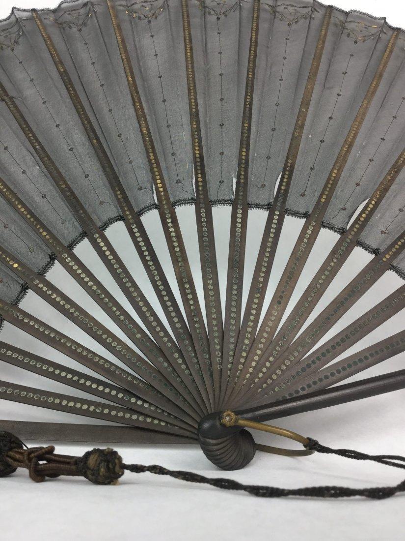 Victorian Gold Gilt Formal Fan - 2