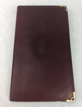 CARTIER Leather Wallet Made in Paris