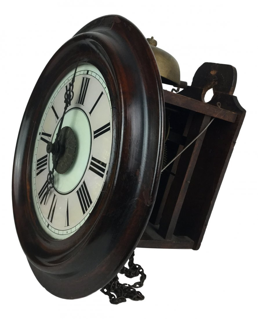19th Century Oak School Clock