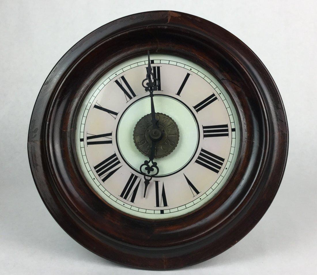 19th Century Oak School Clock - 3