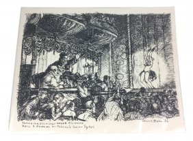 CECIL BELL 1932 Sketch for Unfinished Etching