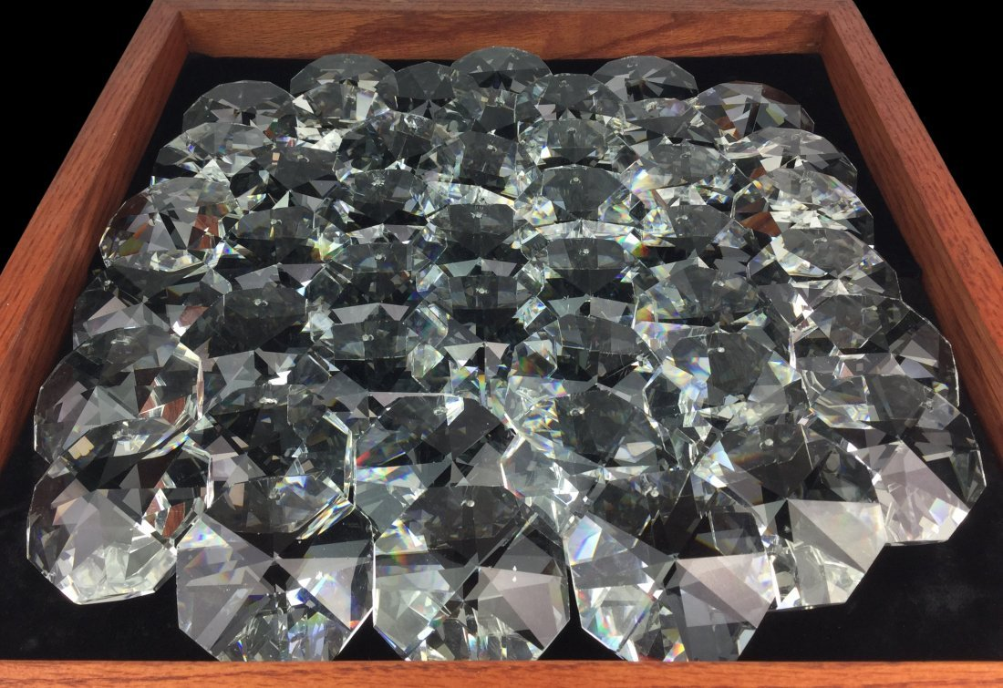 Gorgeous Large Crystals off Antique Chandelier