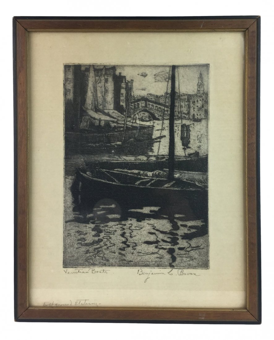 BENJAMIN BROWN Etching 1920's
