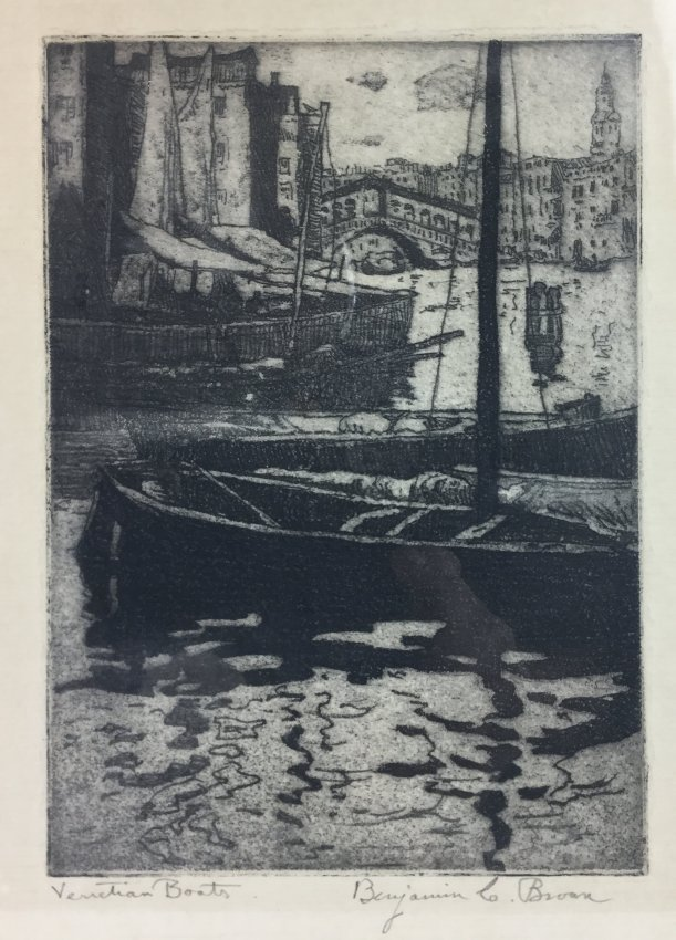 BENJAMIN BROWN Etching 1920's - 2