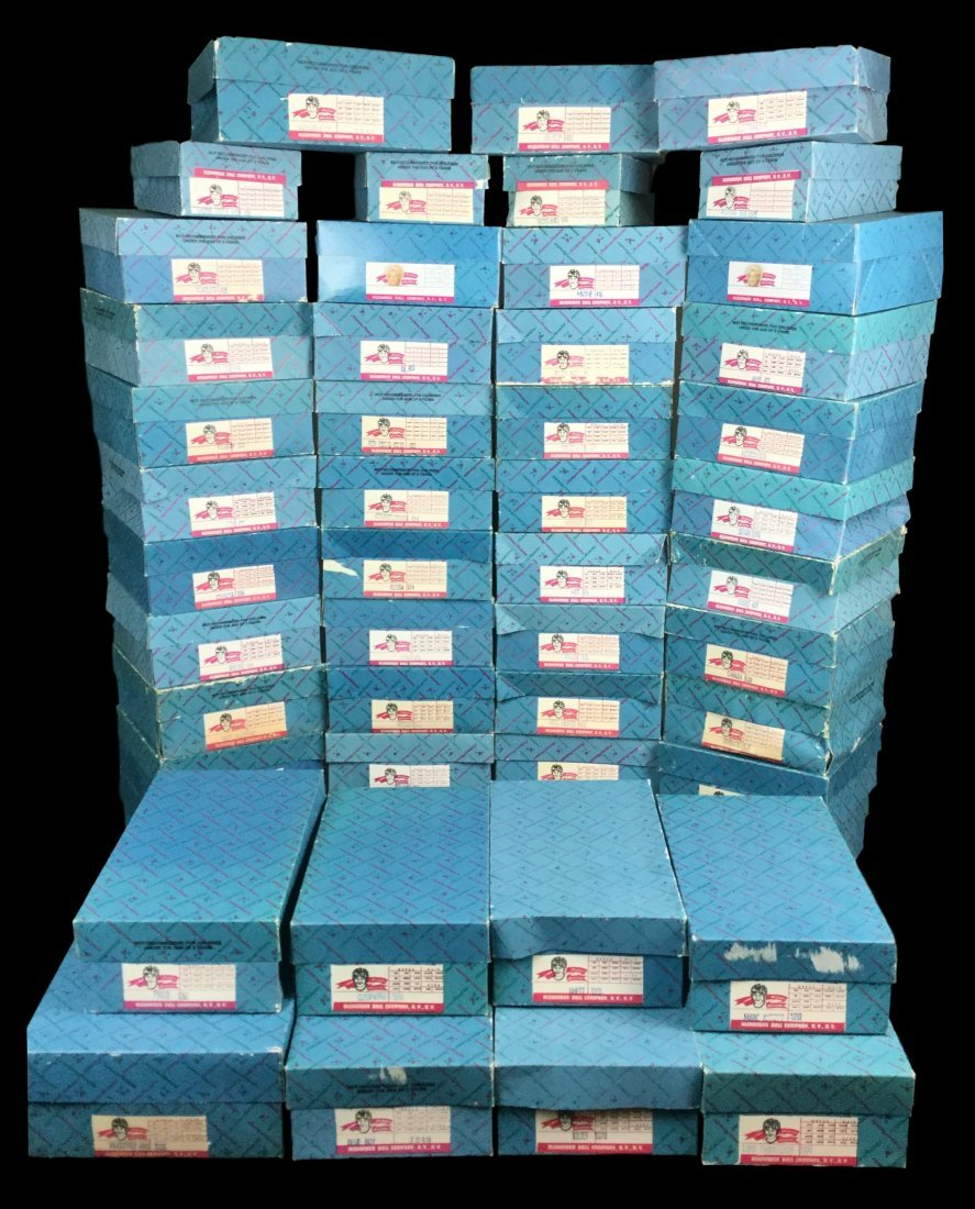 Large Collection of Madam Alexander Dolls with Boxes