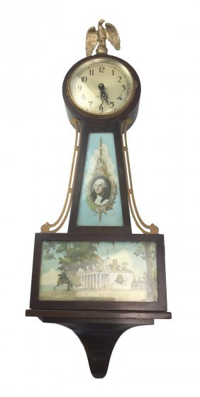 Seth Thomas Banjo Clock with GEORGE WASHINGTON