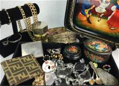 Collection of Vintage Estate Jewelry & Apparel