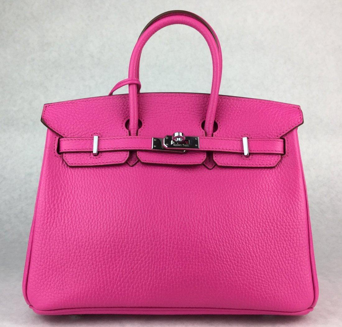 Hermès 25cm BIRKIN Bag HOT PINK Leather & Gold Hardware