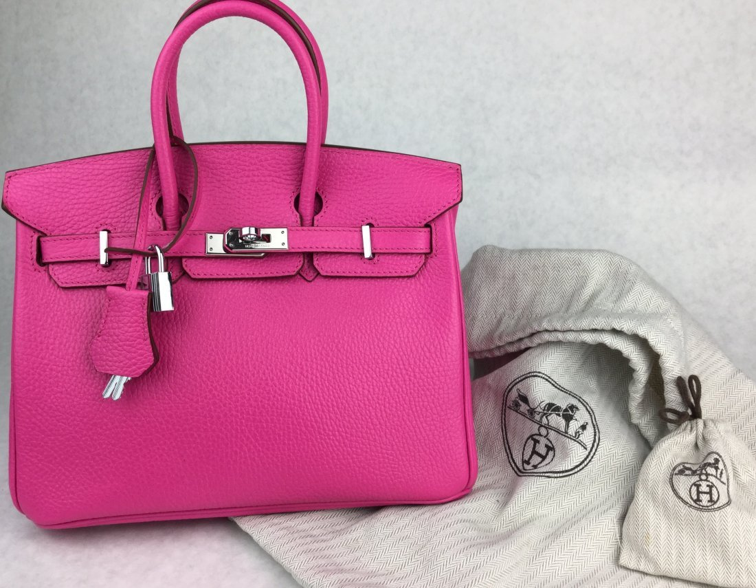 Hermès 25cm BIRKIN Bag HOT PINK Leather & Gold Hardware - 2