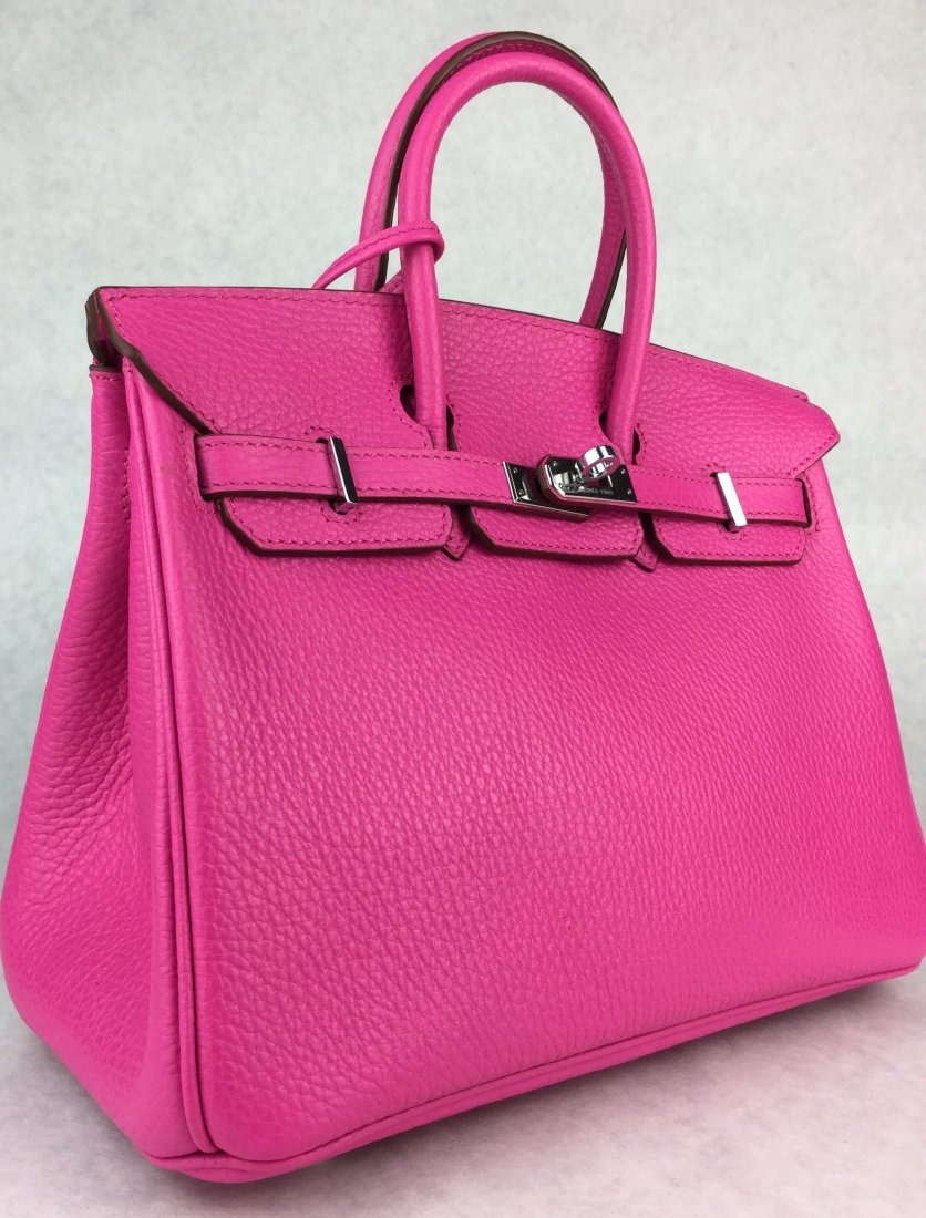 Hermès 25cm BIRKIN Bag HOT PINK Leather & Gold Hardware - 5
