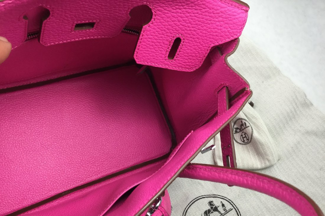 Hermès 25cm BIRKIN Bag HOT PINK Leather & Gold Hardware - 6