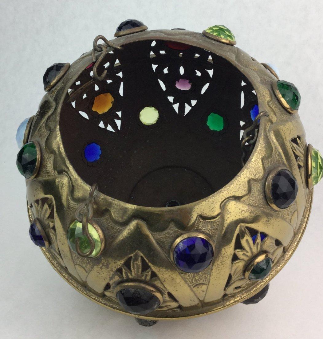 Fabulous Multi-Gem Stone Hanging Dome - 3