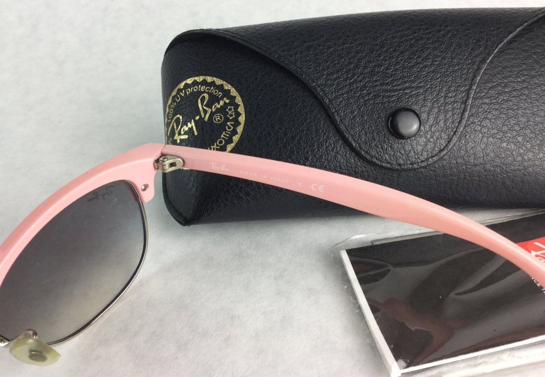 RAY BANS Hot Pink RB4132 Clubmaster Sunglasses - 2