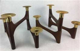 Pair of DANISH Mid Century Modern Candle sticks