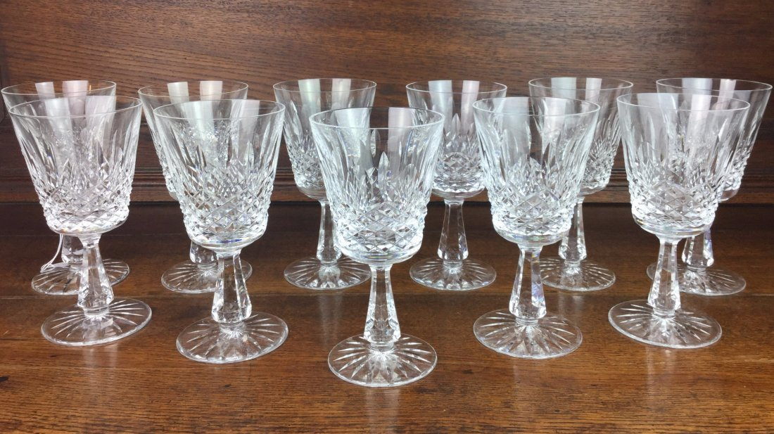 11 Fabulous WATERFORD Cut Crystal Stems