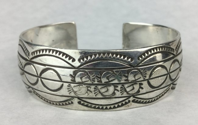 Sterling Silver Native American Bracelet