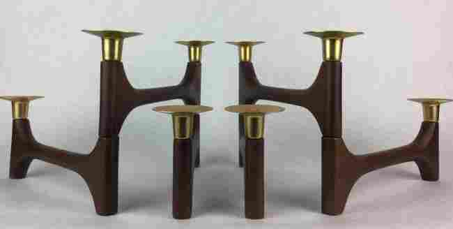 DANISH Mid Century Modern Candle sticks