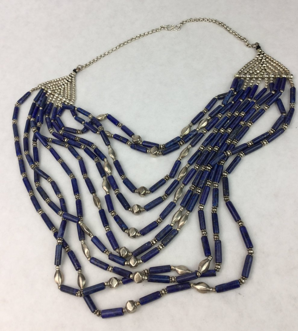 LAPIS & Sterling 10 Strand Necklace