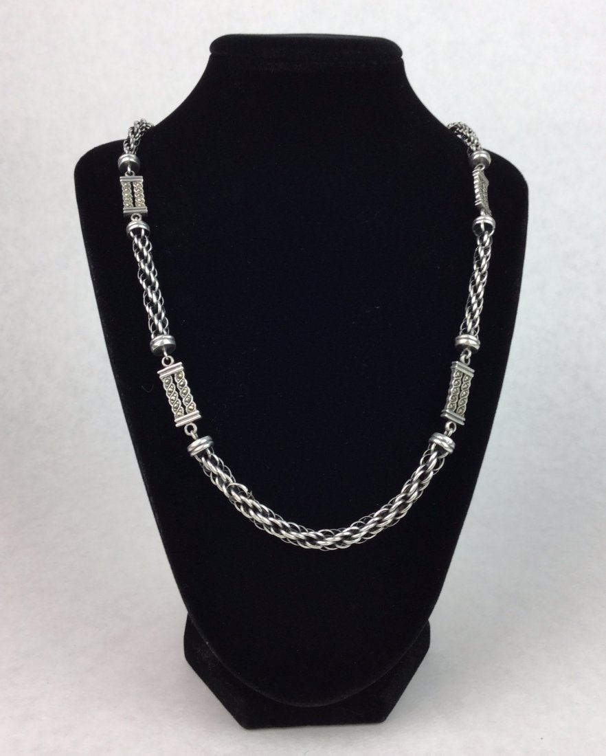925 Sterling Silver Necklace with Marcasite