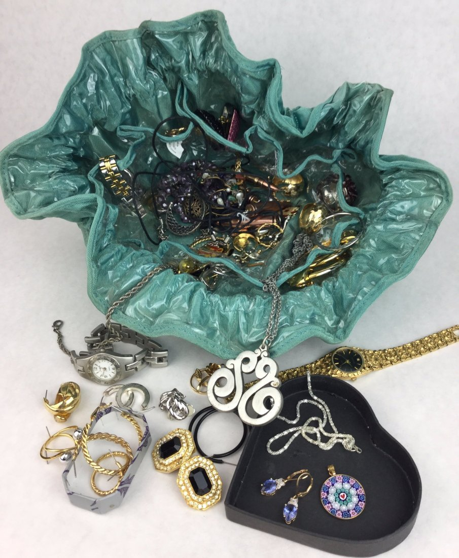 Collection of Estate Jewelry including tie up Bag