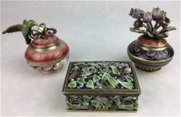 Collection of Vintage Jewelry  Trinket Boxes