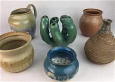 Signed Studio Art Pottery Grouping