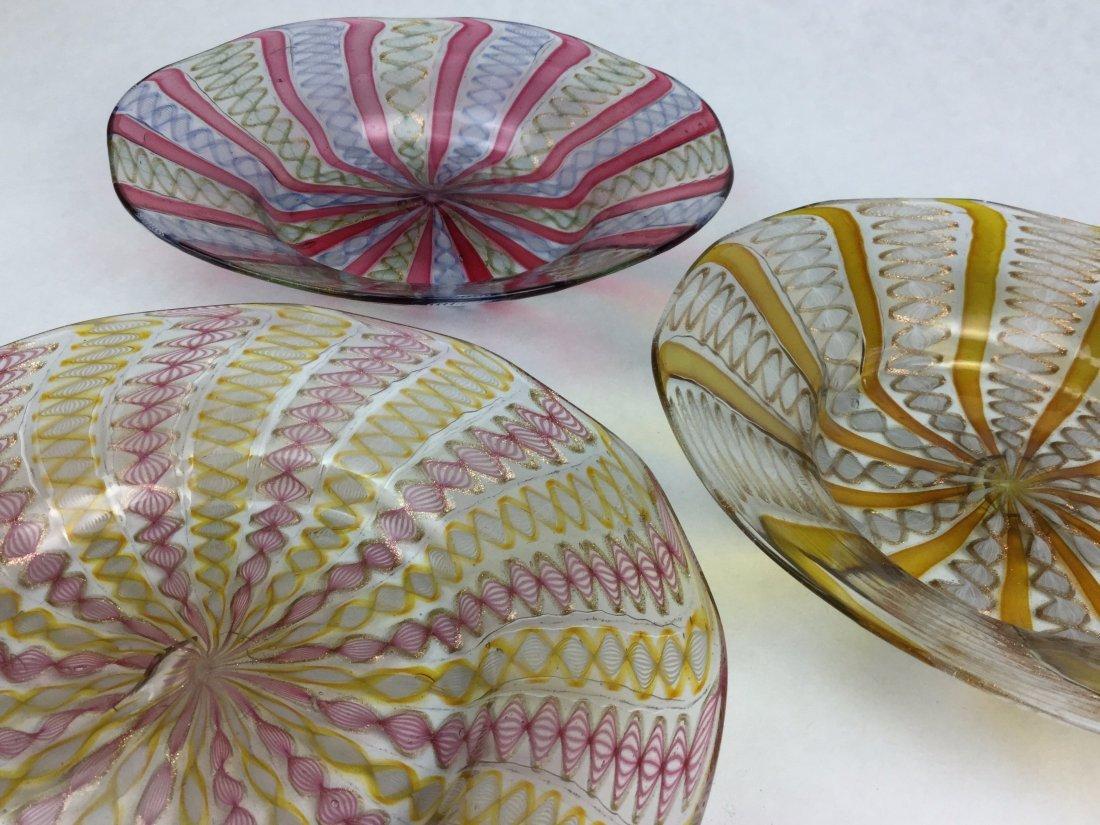 MURANO Latticino Glass Grouping