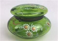 MOSER Enameled Glass Powder Jar