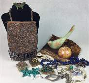 Estate Jewelry Purse Decor Grouping