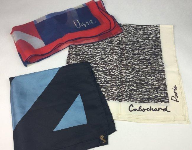 Designer Silk Scarves Grouping