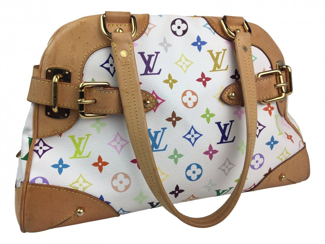 LOUIS VUITTON Monogram White leather Bag