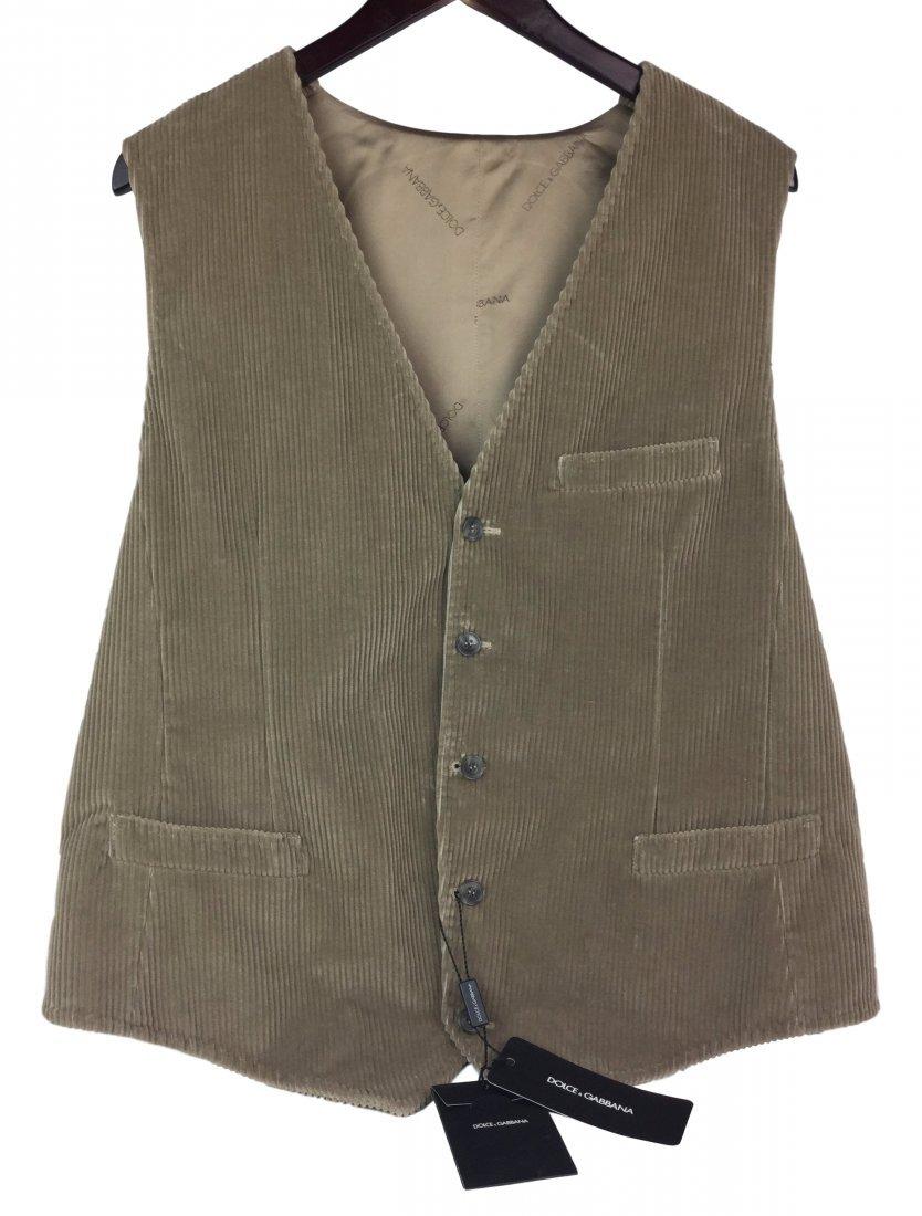 DOLCE & GABBANA Corduroy Vest 52