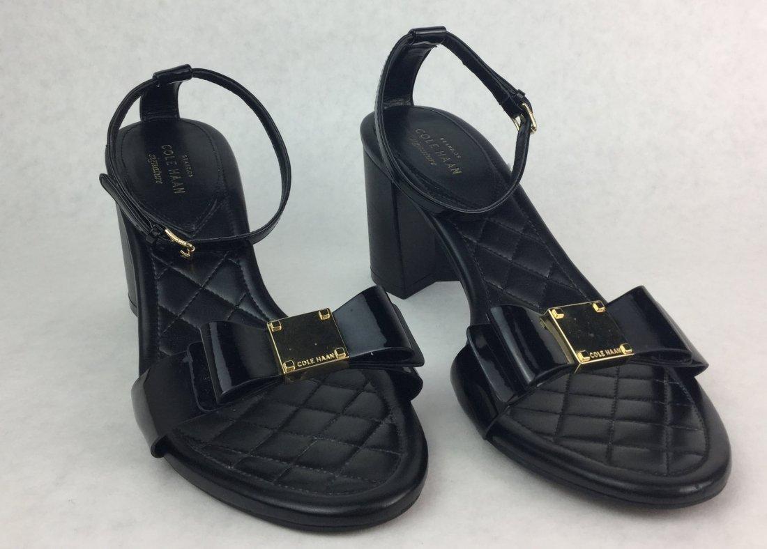 COLE HANN Black Heel Sandals
