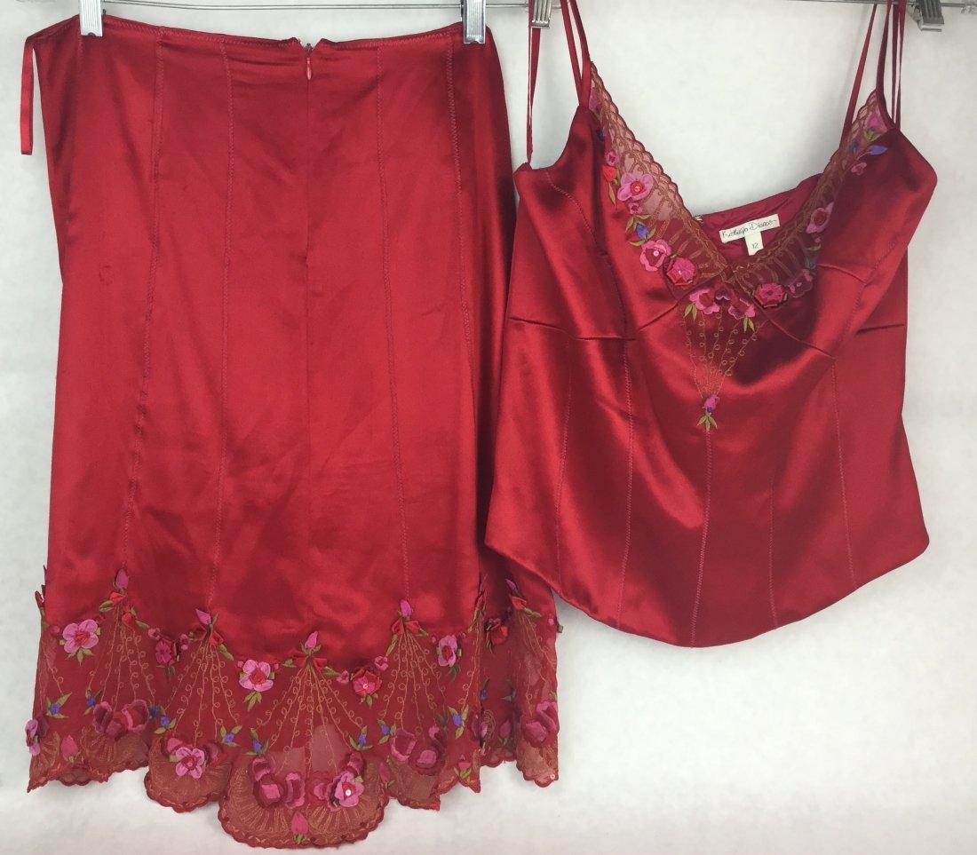 Katherine Diamos Silk 2 Piece Dress
