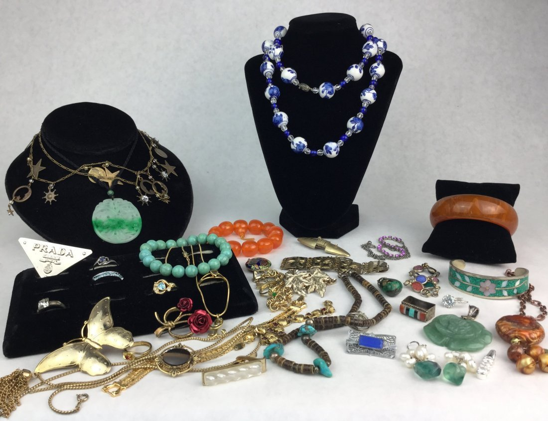 Estate Jewelry Grouping with 925 Sterling Silver