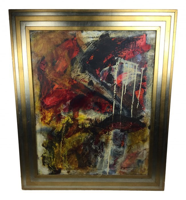SUZANNE CLUNE Abstract Oil On Canvas