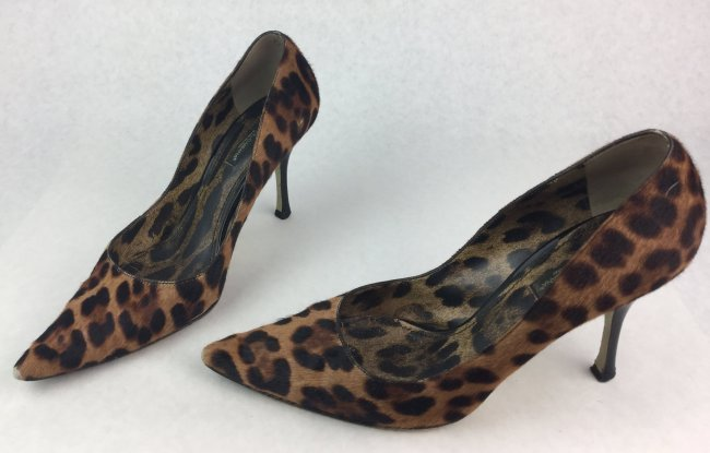DOLCE & GABBANA Leopard Print High Heel Shoes
