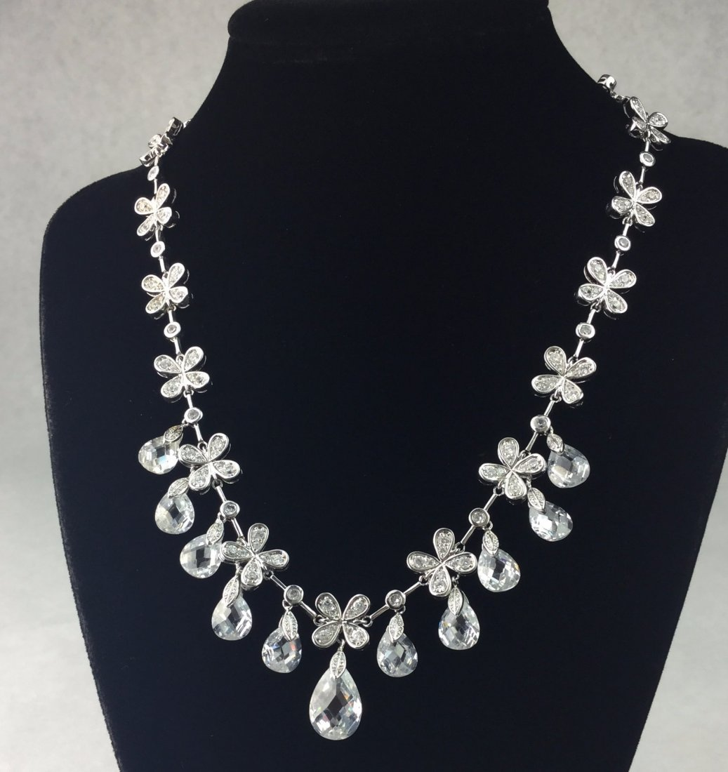 JOAN RIVERS Silver & Crystal Necklace