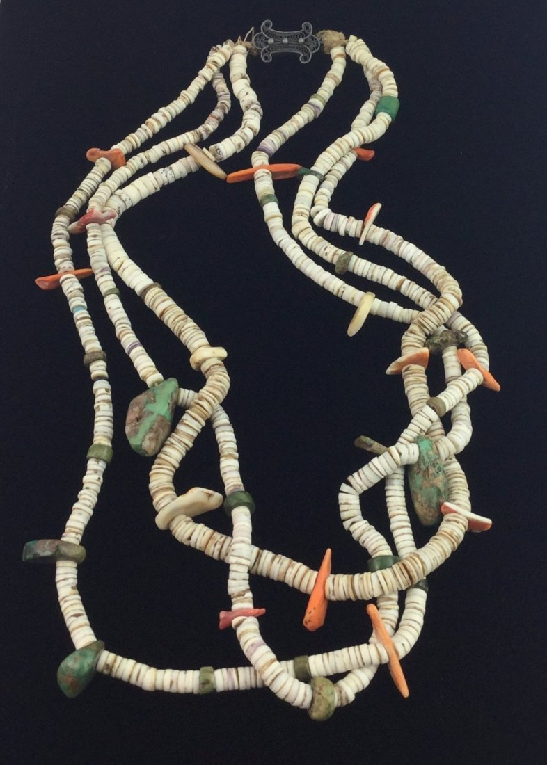 3 Strand Fetish Style Necklace with Sterling Clasp