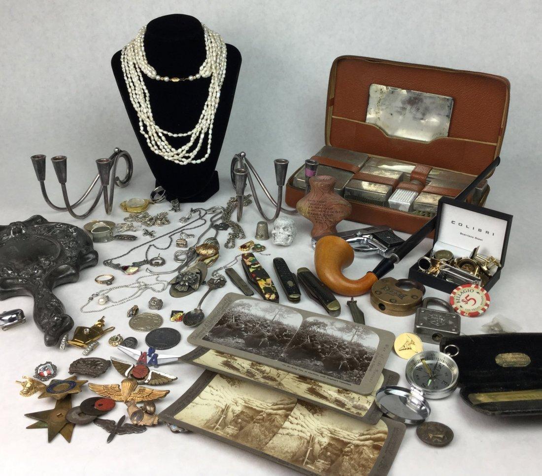 Large Grouping of Estate Man Trinkets