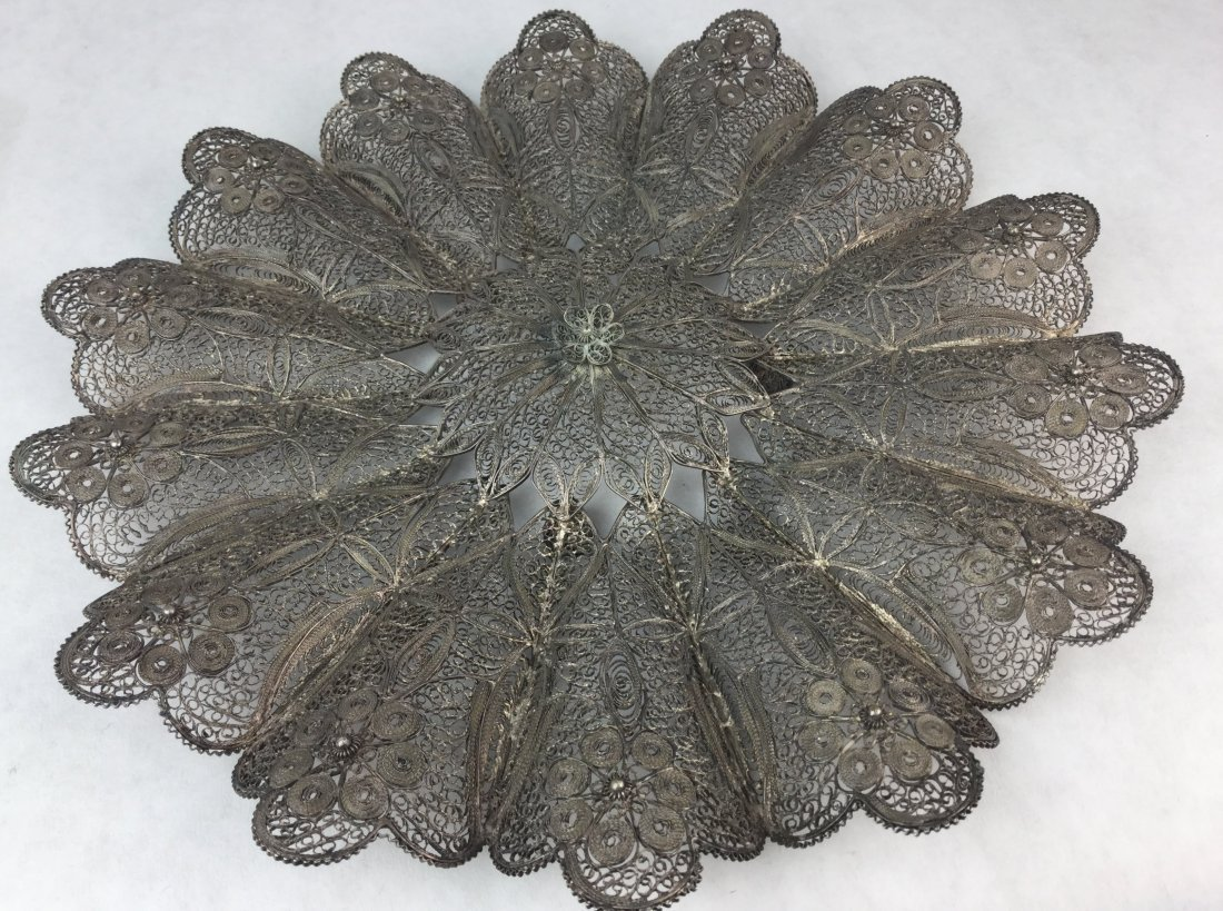 Antique Filigree Plaque 900 Silver