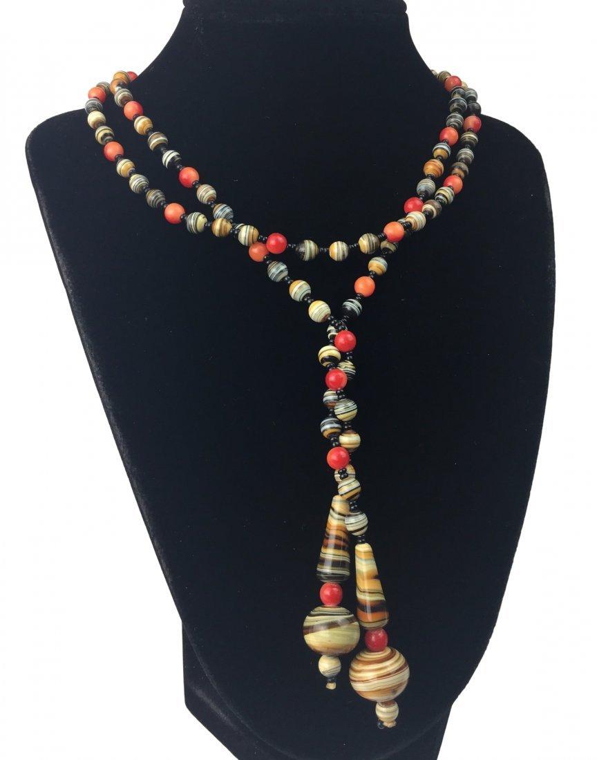 MURANO Swirl Art Glass Necklace